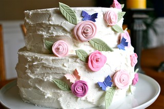 Rustic Flower Cake 002 | by Hungry Housewife