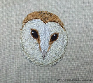 Miniature Barn Owl embroidery | by MotherEagle