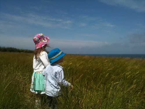 Kids by the wheat fields, Trevone, Cornwall | by spud202