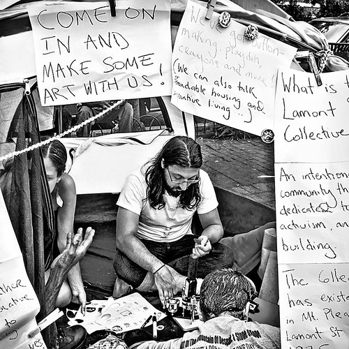 Make Some Art With Us & Talk Affordable Housing, Occupy DC, Lamont Park, Washington, DC | by Gerald L. Campbell