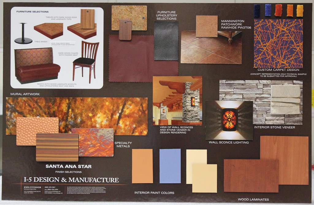 Casino design color board interior and exterior design for Interior decoration with waste material