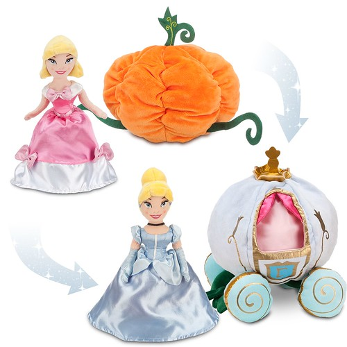 Disney Enchanted Nursery Cinderella Baby Doll In Blue: Transforming Plush Cinderella Doll And Pumpkin Coach Set