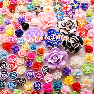 Polymer Clay Flower Cabochon Assortment Mix Jewelry Supplies | by Sophie & Toffee