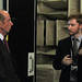 HRH The Duke of Kent with Ian Butterworth in NPL's Acoustics labs