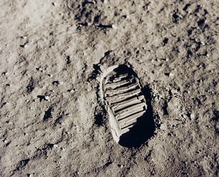 Apollo 11 Bootprint | by NASA on The Commons