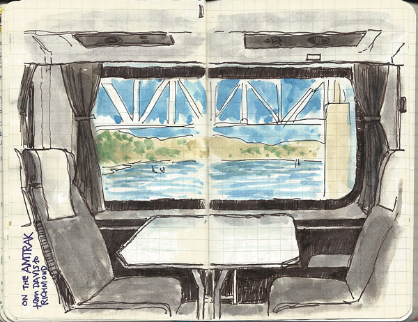 quick Amtrak sketch