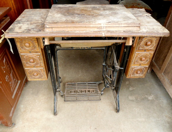 restore singer sewing machine table