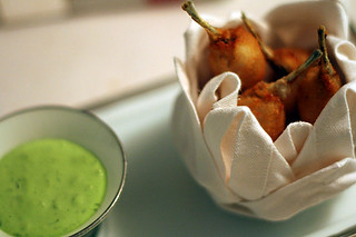 frogs legs and sorrel sauce | by David Lebovitz