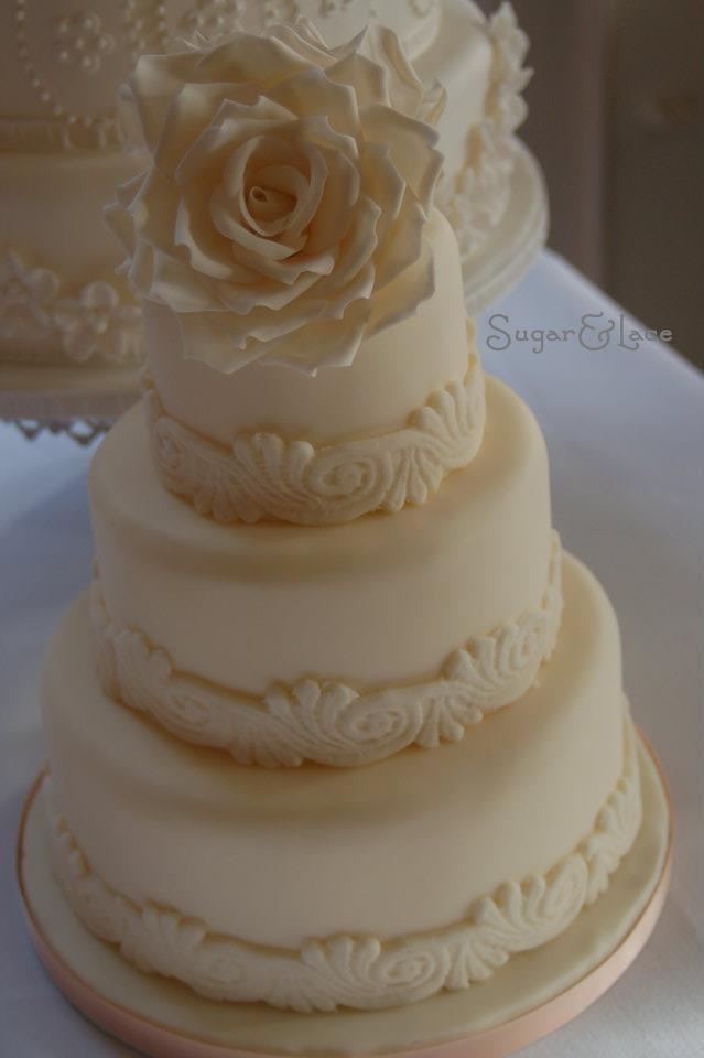 wedding cakes for small weddings vintage small wedding cake design with made roses 24379