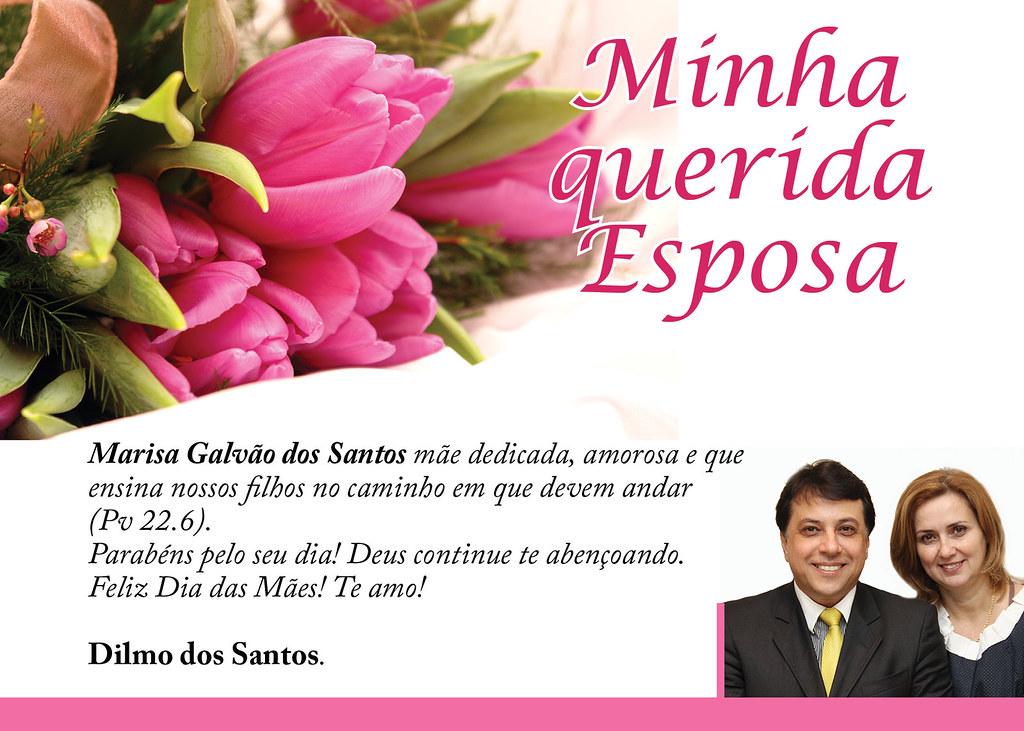 Desejo Um Feliz Dia Das Mães Para Minha Esposa Marisa Galv