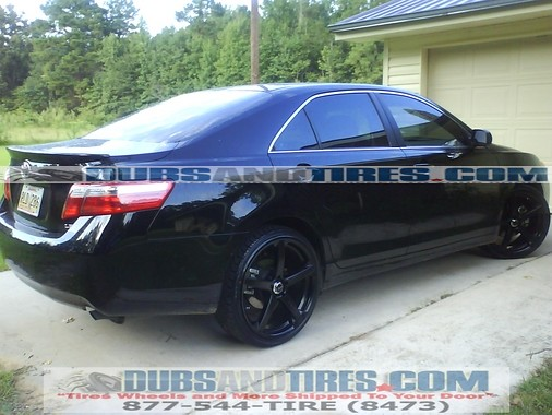 Toyota Camry 20 inch wheels rims Drifz Jade R Black wheels ...