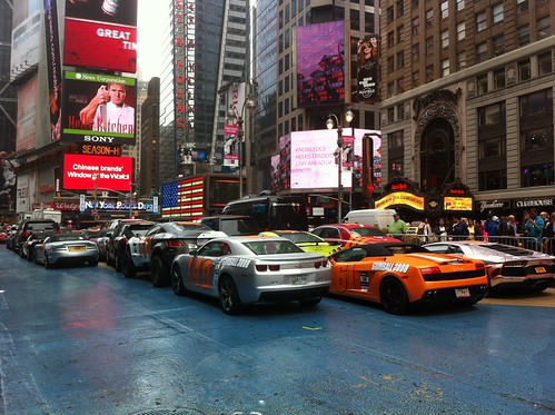 Start of Gumball 3000 in Times Square, NYC (May 25, 2012) | by Marc van der Chijs