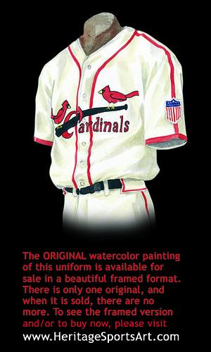St Louis Cardinals 1944 Uniform Artwork This Is A