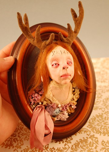 Deer Girl Plaque | by woodedwoods