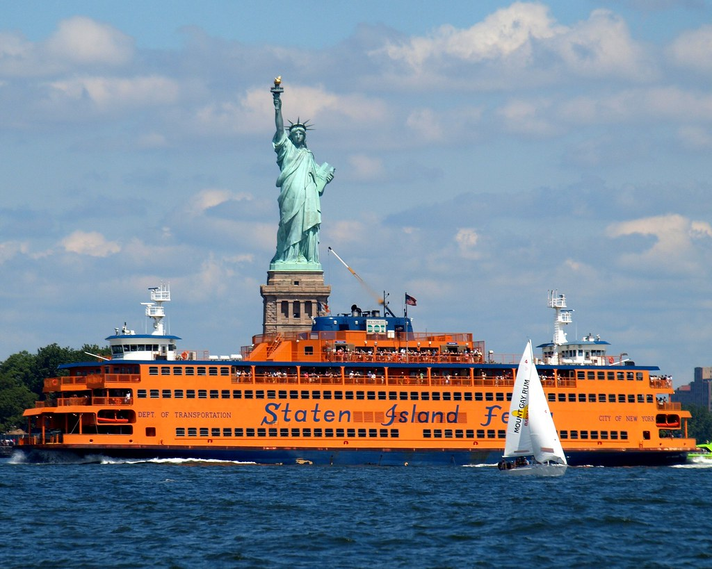 Staten Island Ferry Statue Of Liberty View