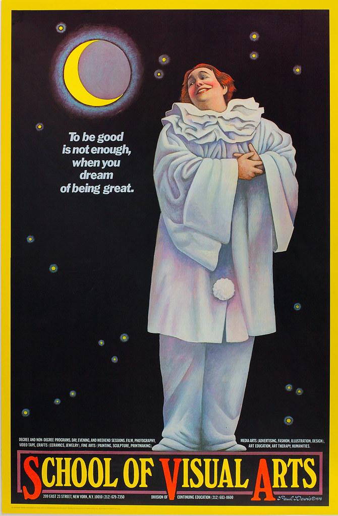 "School of Visual Arts Poster ~ Paul Davis | Size: 29.5"" x ..."