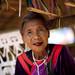 Old woman in Ban Nam Rin village, Lisu tribe, Thailande