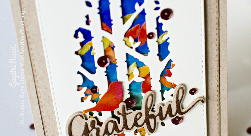 Grateful card closeup #1