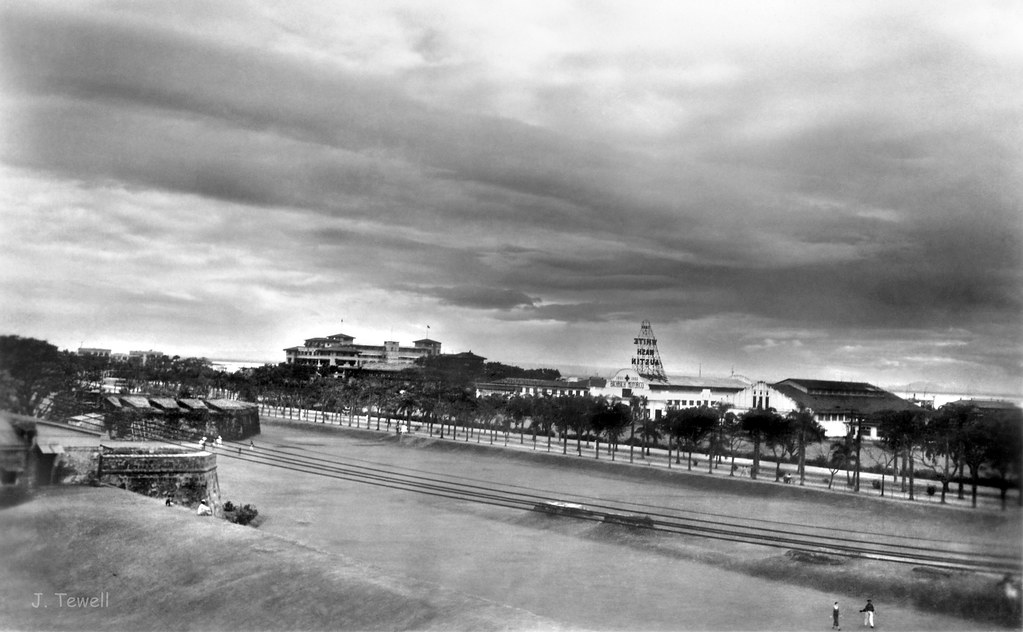 White Motor Company >> Intramuros looking out towards Manila Bay, Manila, Philipp ...