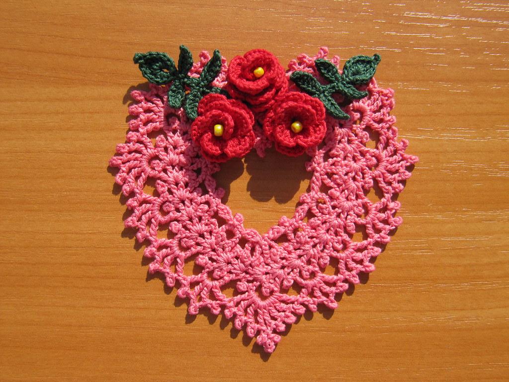 Irish Crochet Heart Ornament by Annie Potter | IMG_3540 | Nik_OC ...