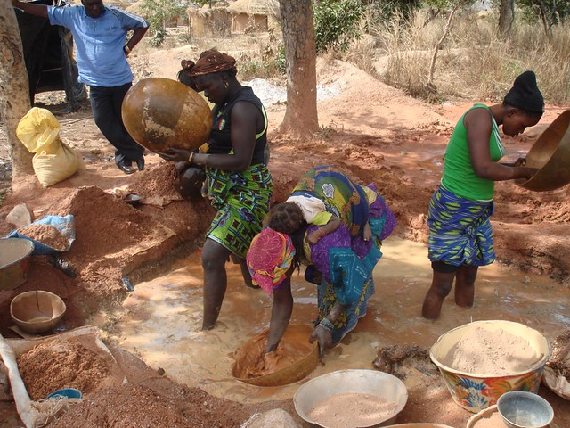 Mining for gold in Mali Africa