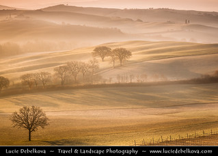 Italy - Tuscany - Val d'Orcia after Sunrise - UNESCO World Heritage Site | by © Lucie Debelkova / www.luciedebelkova.com