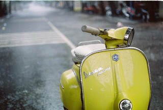 Yellow Vespa in the Rain | by Khánh Hmoong