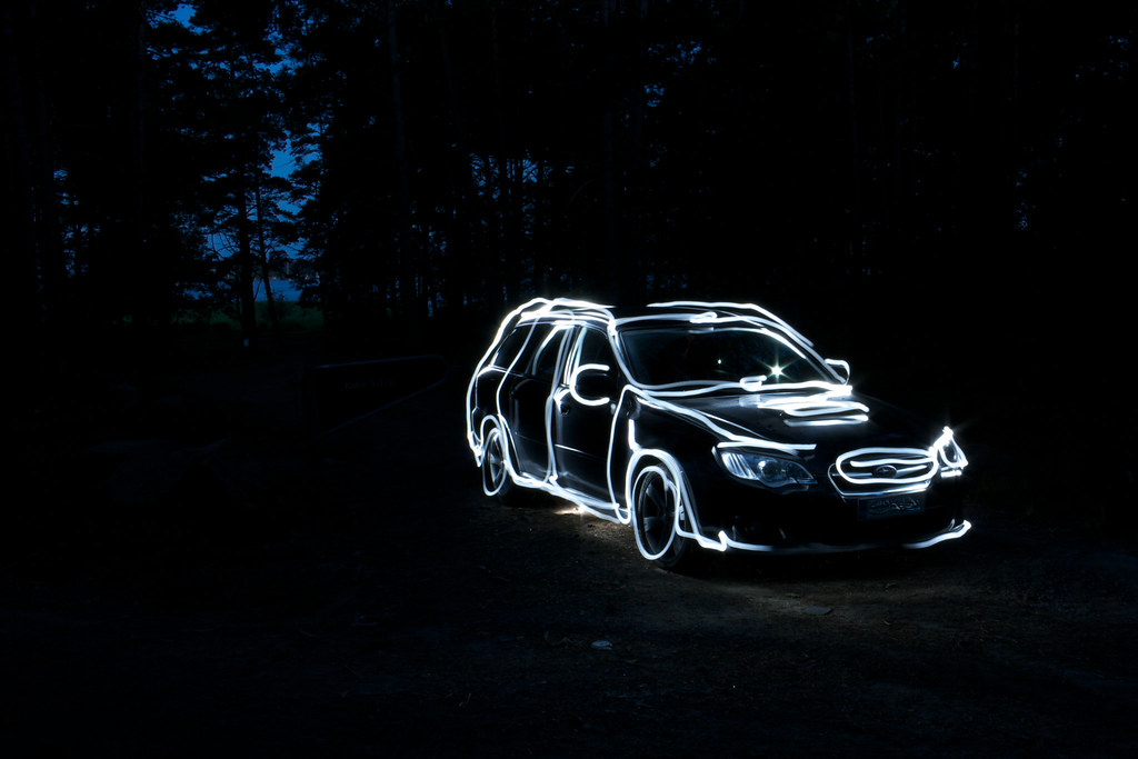 light tracing first try my poor car has to endure all sor flickr
