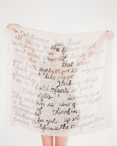 poem scarf | by the style files