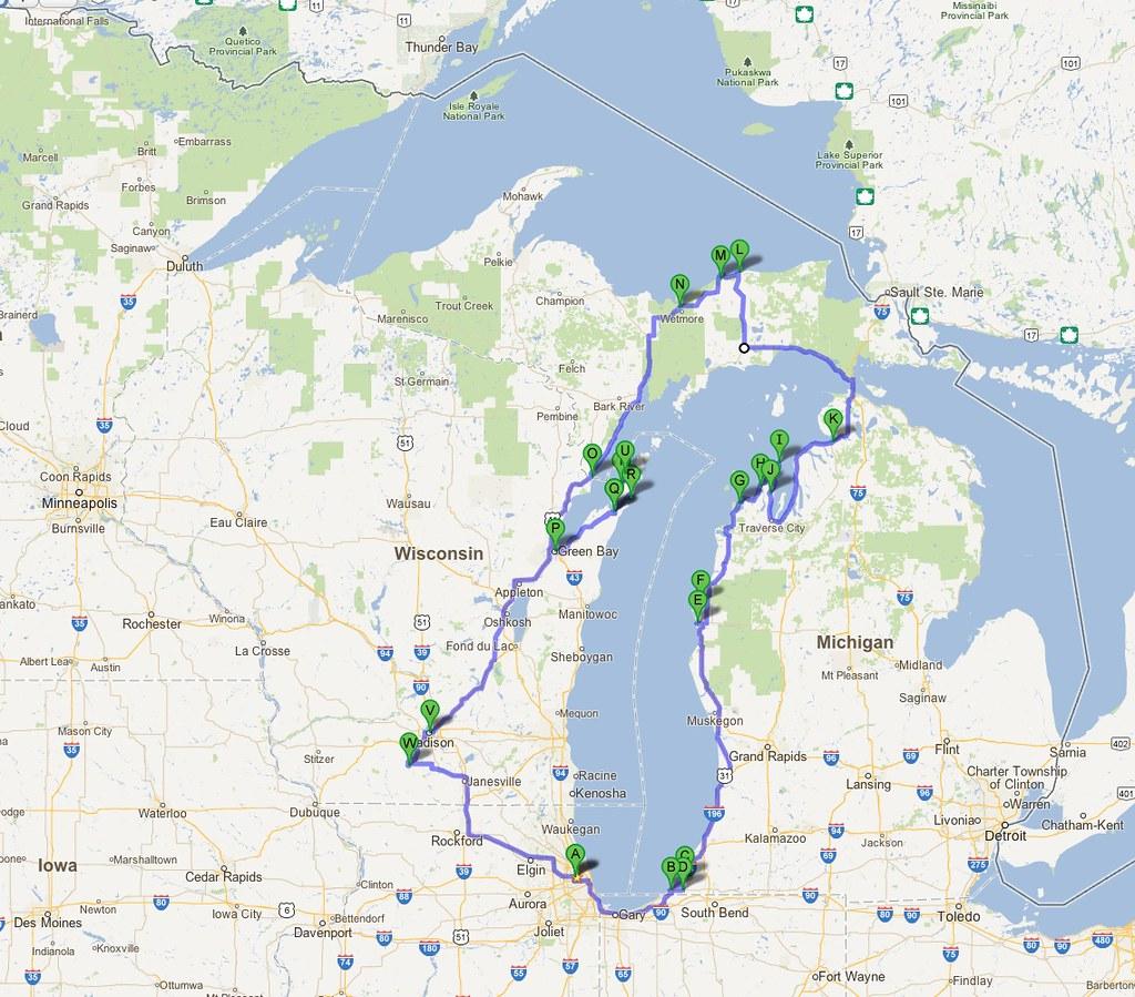 Circle Tour Map View Lake Michigan Circle Tour June I Flickr - Lake michigan circle tour map
