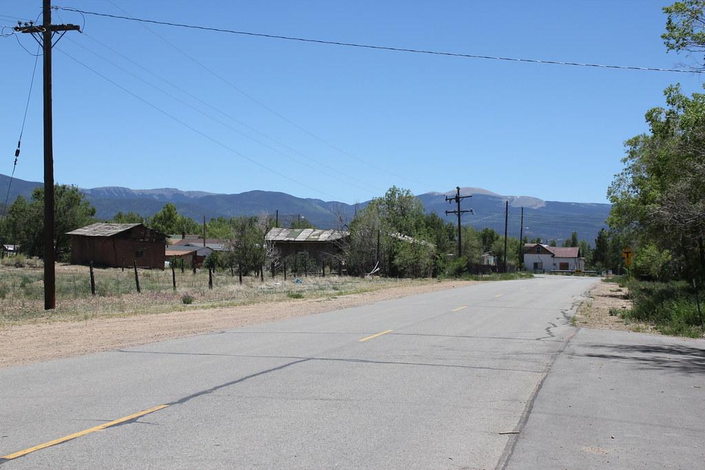 Main Street In Chama Colorado In Costilla County A