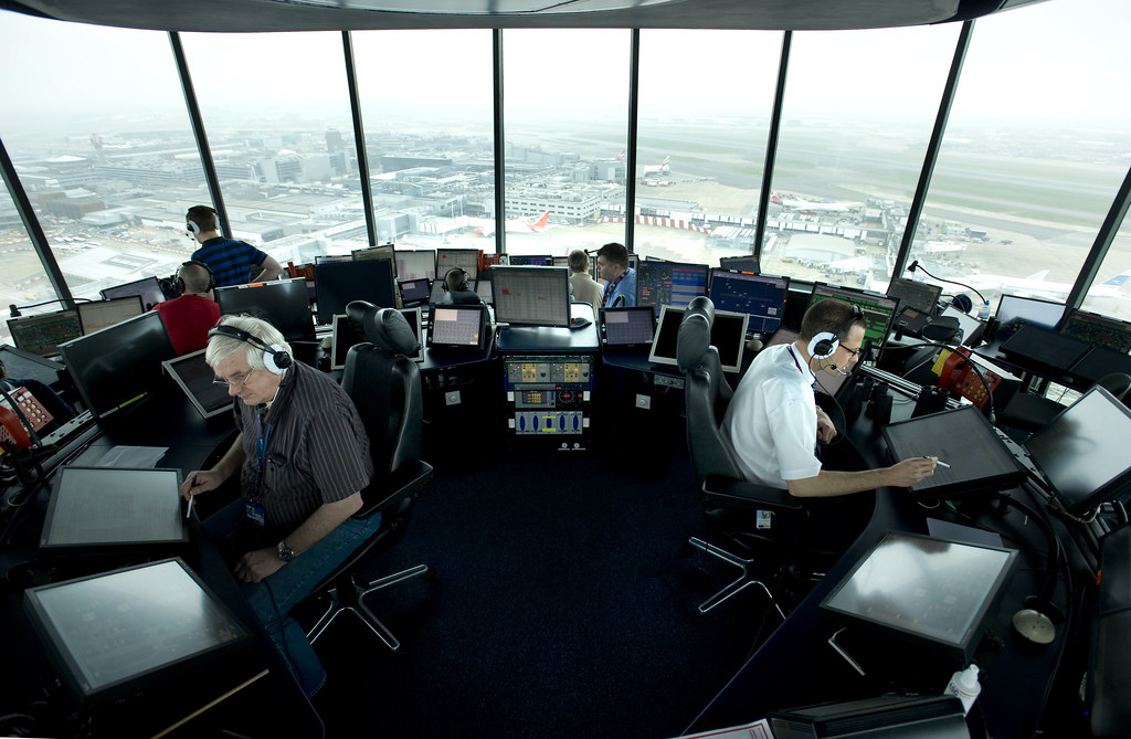Inside Heathrow Air Traffic Control Tower Nats Uk Air