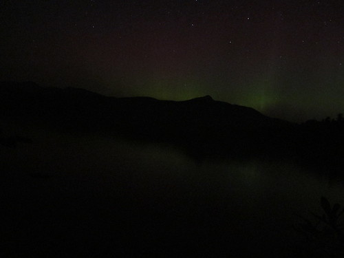 Aurora Borealis over Chocorua Lake Night of 7/14 - 7/15/12 | by rightthewrong