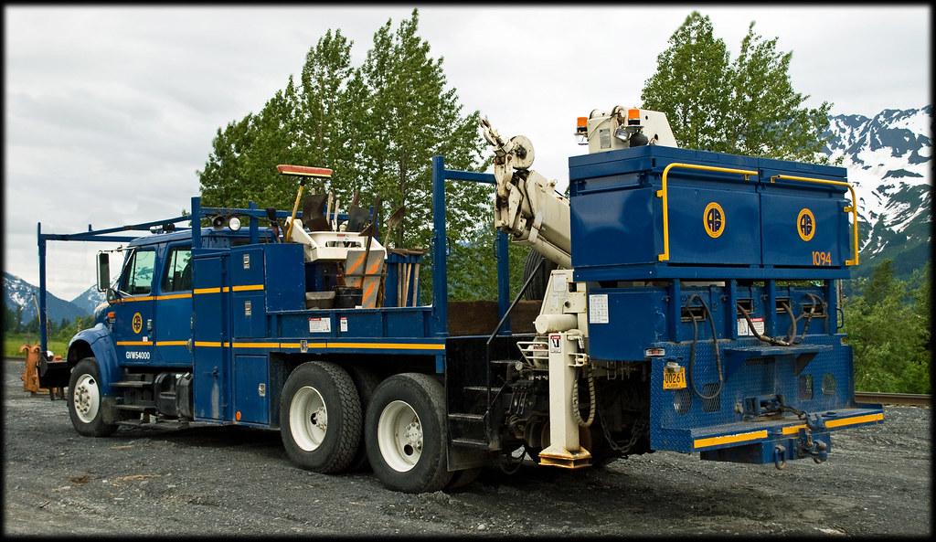 Alaska Railroad Track Repair Rig At Portage Ak Michael