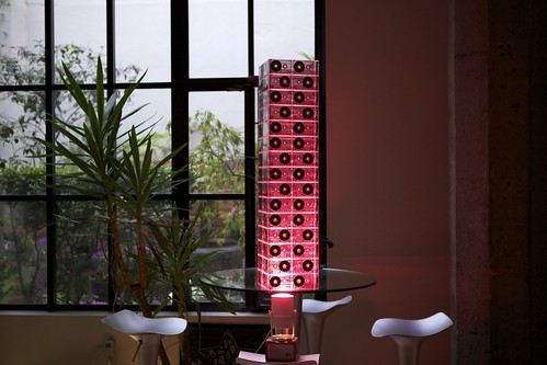 Cassette Tape Tower: Lit Up | by Schill
