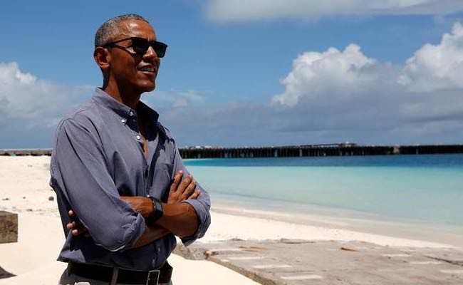 President Obama Visits Midway Atoll Refuge and Memorial within the Monument on September 1, 2016.