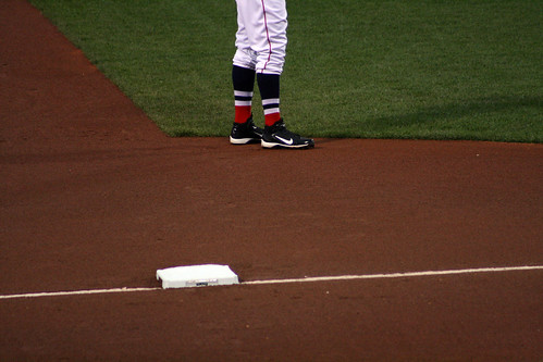 Middlebrooks' high socks | by ConfessionalPoet