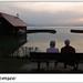 Puesta de sol en el lago Chiemsee