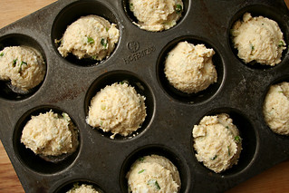 goat cheese scallion muffins 3 | by crumblycookie