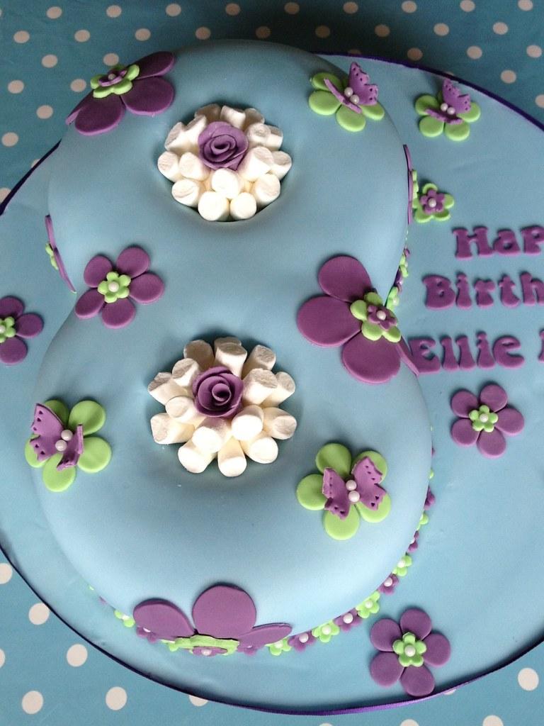 Number 8 Birthday Cake Ellie Roses Birthday Flickr