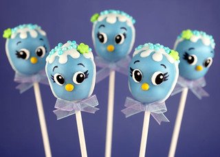 Bluebird Cake Pops | by Bakerella