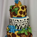 Jungle baby 3tiered cake med