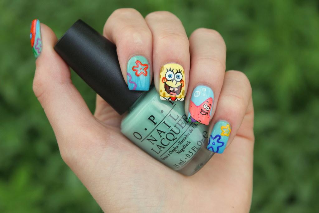 Spongebob nails | I made Spongebob Squarepants nails! I thin ...