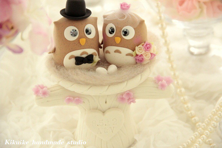 Wedding Cake Topper-love owls with nest ,and tree | www.etsy… | Flickr