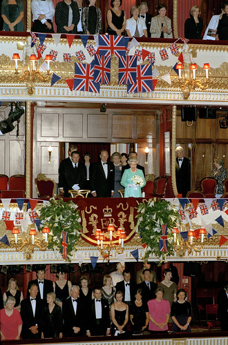 Her Majesty Queen Elizabeth II, HRH The Prince Philip Duke of Edinburgh in the Royal Box, Golden Jubilee Gala 23 July 2002 © Rob Moore/ROH 2002 | by Royal Opera House Covent Garden
