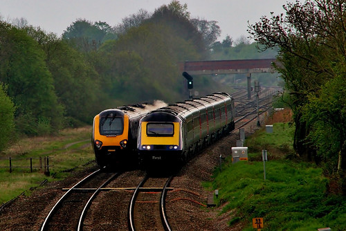 XC Voyager & FGW HST passing at Haresfield | by KPAR Media UK