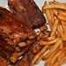 Mmm... spare ribs and garlic fries