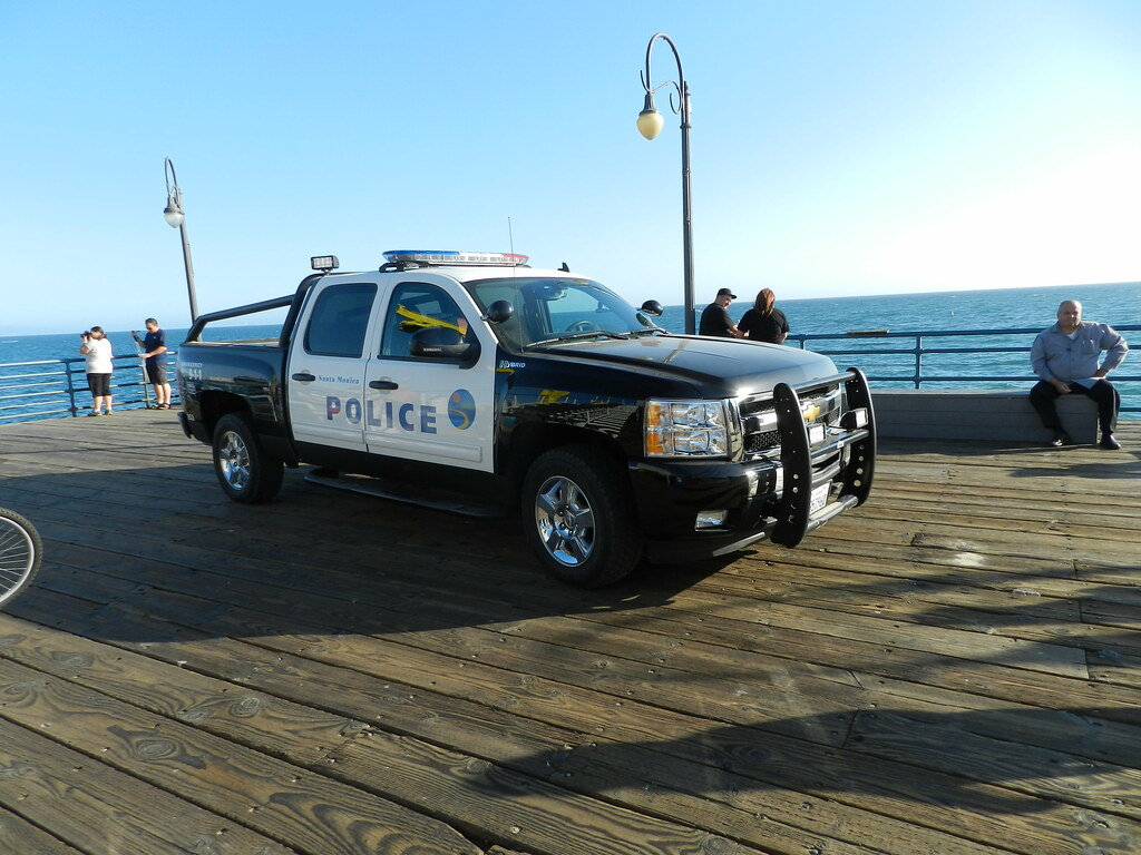 Santa Monica Police Car Santa Monica Pier Graham