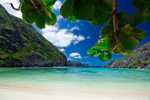 Lagoon Tropical Island: Tropical Island Beach With Blue Water Lagoon