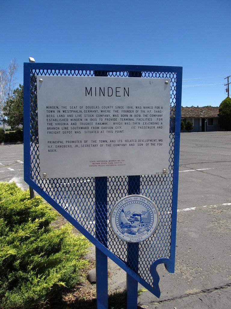 Minden Nevada Historical Marker No 130 Minden Nevada